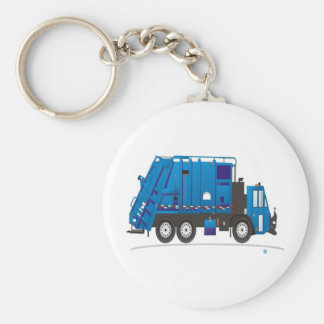 Garbage Truck Basic Round Button Keychain