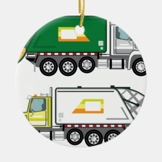 Garbage Truck Ceramic Ornament