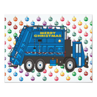 Garbage Truck Christmas 4.25x5.5 Paper Invitation Card