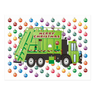 Garbage Truck Christmas Postcards