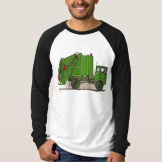 Garbage Truck Green Adult Shirt