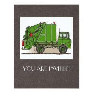 Garbage Truck Green Card