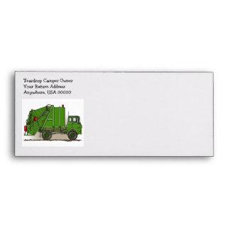 Garbage Truck Green Envelopes