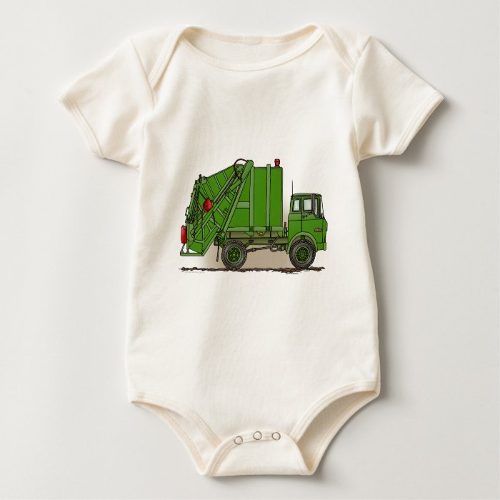 Garbage Truck Green Infant Creeper