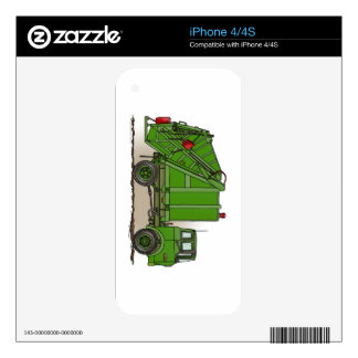 Garbage Truck Green iPhone 4 Decal