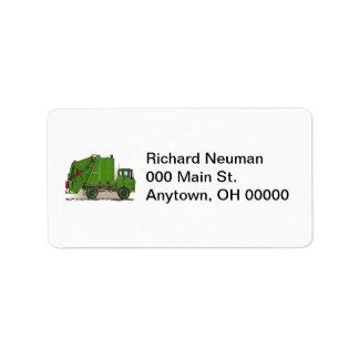 Garbage Truck Green Label