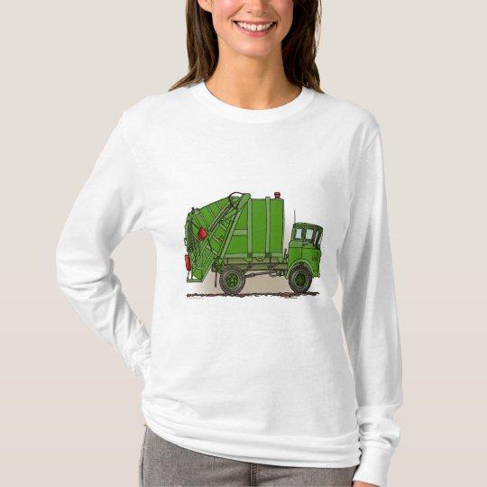 Garbage Truck Green Ladies Hoodie