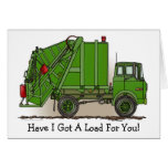 Garbage Truck Green Note Card