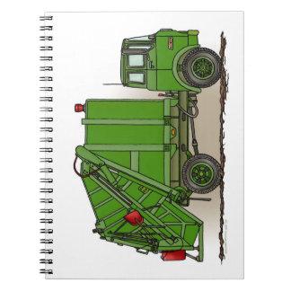 Garbage Truck Green Notebook