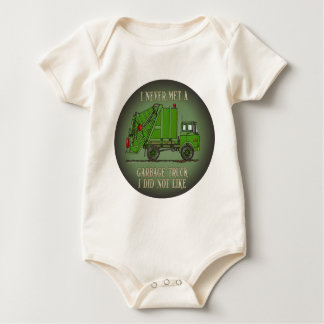 Garbage Truck Green Operator Quote Infant Creeper
