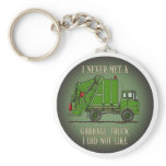 Garbage Truck Green Operator Quote Key Chain