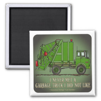 Garbage Truck Green Operator Quote Magnet