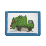 Garbage Truck Green Trifold Wallet