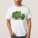 Garbage Truck Green Womens T-Shirt