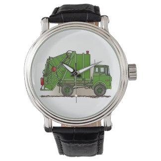 Garbage Truck Green Wrist Watch