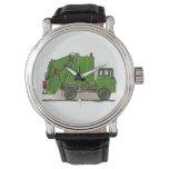 Garbage Truck Green Wristwatch