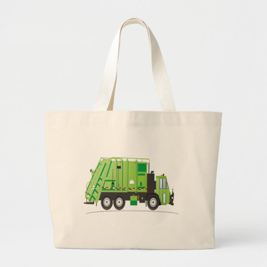 Garbage Truck Large Tote Bag