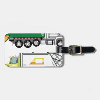 Garbage Truck Luggage Tag