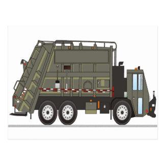 Garbage Truck Military Postcard