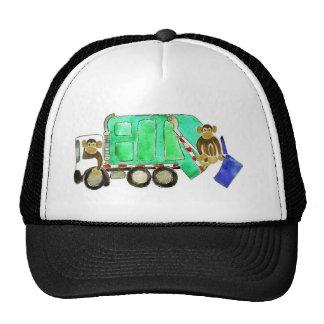 Garbage Truck Monkey Trucker Hat