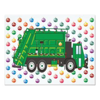 garbage truck Ornaments 4.25x5.5 Paper Invitation Card