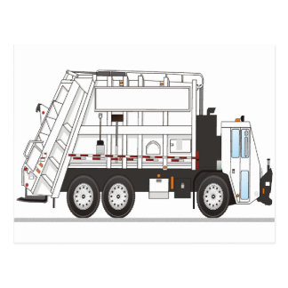 Garbage Truck Post Card