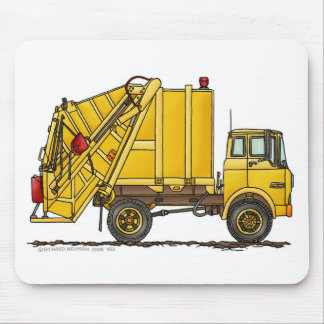 Garbage Truck Rear Loader Mouse Pad