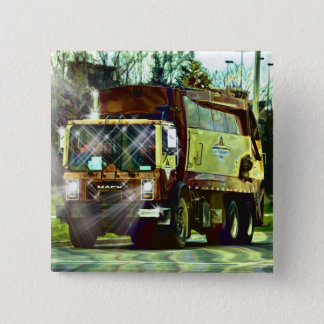 GARBAGE TRUCK REFUSE TRUCKERS Button