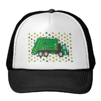Garbage Truck Shamrocks March Trucker Hat