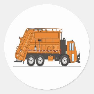 Garbage Truck Round Stickers