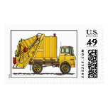 Garbage Truck Trash Collector Construction Stamps