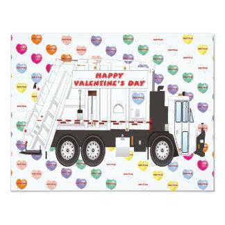 Garbage Truck Valentines Card