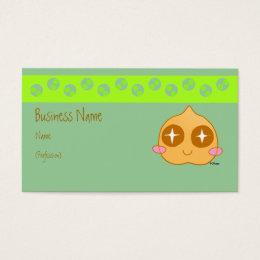 Kawaii business cards templates zazzle garbanzo kawaii business card colourmoves
