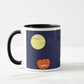 Garbanzo On Halloween Night Ringer Mug