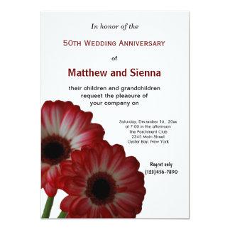 Garbera Anniversary 5x7 Paper Invitation Card