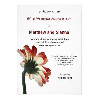 Garbera Anniversary Personalized Invitations