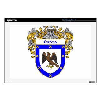 "Garcia Coat of Arms/Family Crest 17"" Laptop Skin"
