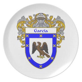 Garcia Coat of Arms/Family Crest Melamine Plate