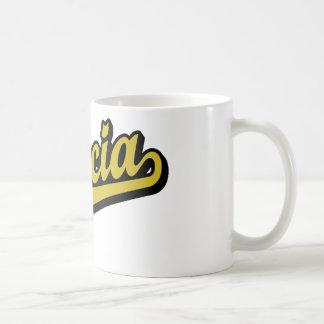 García en oro tazas de café