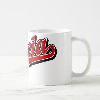García en rojo taza de café