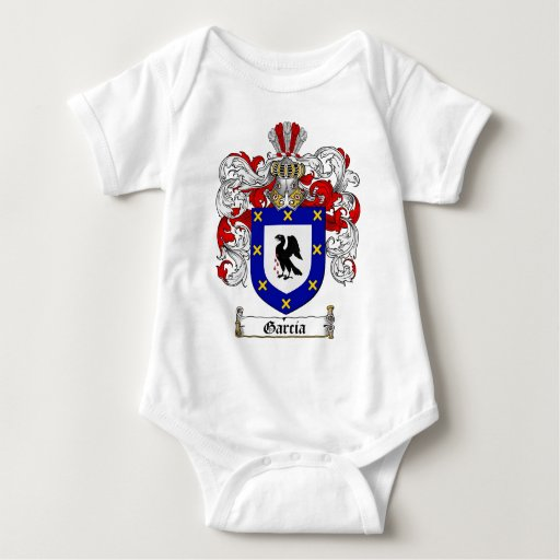 GARCIA FAMILY CREST -  GARCIA COAT OF ARMS INFANT CREEPER
