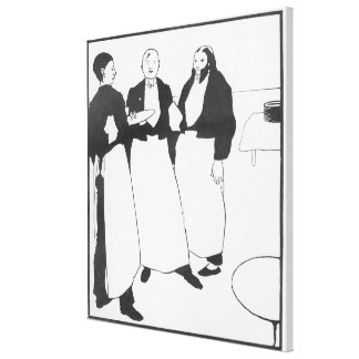 Garcons de Cafe Canvas Print