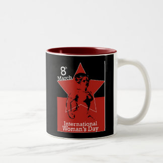 Garcya_greeting_card03 International Womens Day Two-Tone Coffee Mug