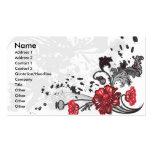 Garcya.us_Flower_Vector_3089516, nombre, dirección Plantillas De Tarjetas De Visita