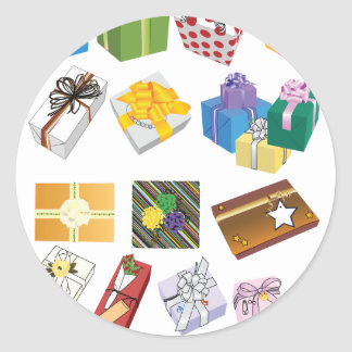 Garcya_us_giftboxes-26.ai Classic Round Sticker