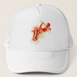 Garcya.us_jazzsolowatercolournopen Trucker Hat