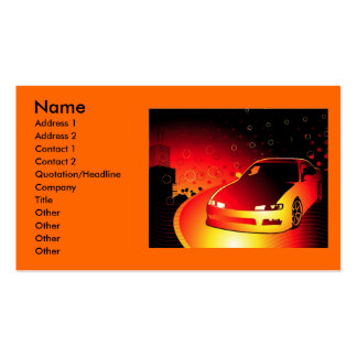 Garcya.us_redcar, Name, Address 1, Address 2, C... Double-Sided Standard Business Cards (Pack Of 100)