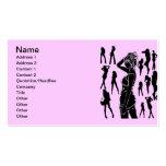 garcya.us_women_silhouettes80, nombre, dirección 1 plantilla de tarjeta de visita