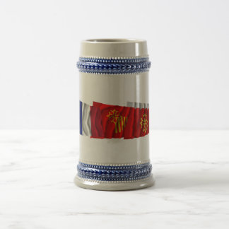 Gard, Languedoc-Roussillon & France flags Beer Stein