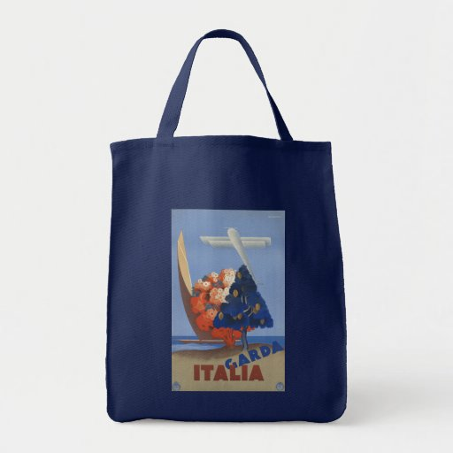 Garda poster del viaje de Italia, Italia del vinta Bolsas De Mano